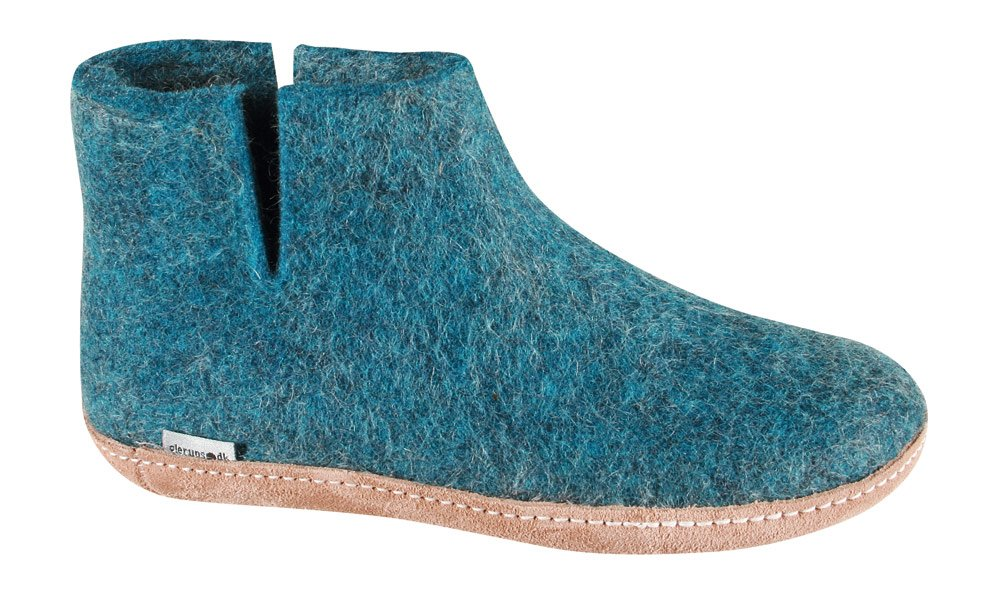 Glerups Boot Slipper Petrol, 37.0