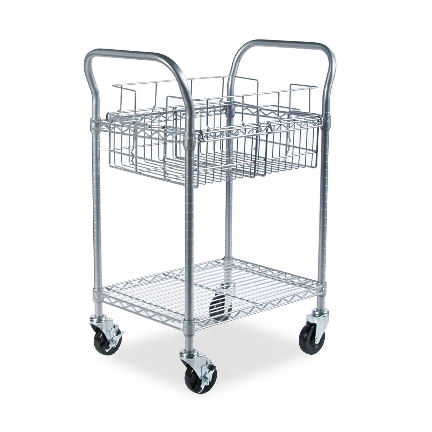 SAF5235GR - Safco Wire Mail Cart by Safco