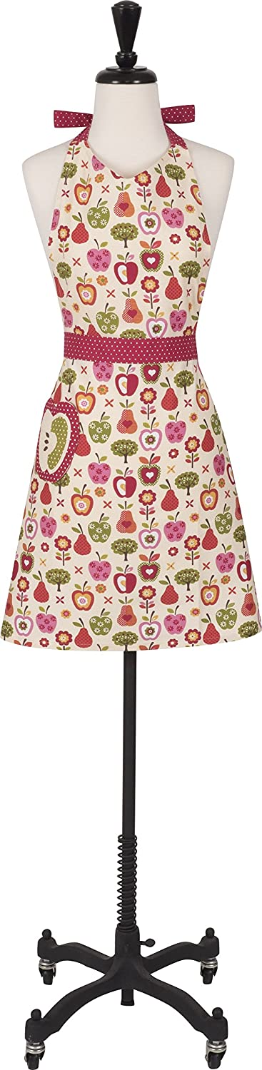 Women's Cotton 'An Apple a Day' Apron with Patch Pocket