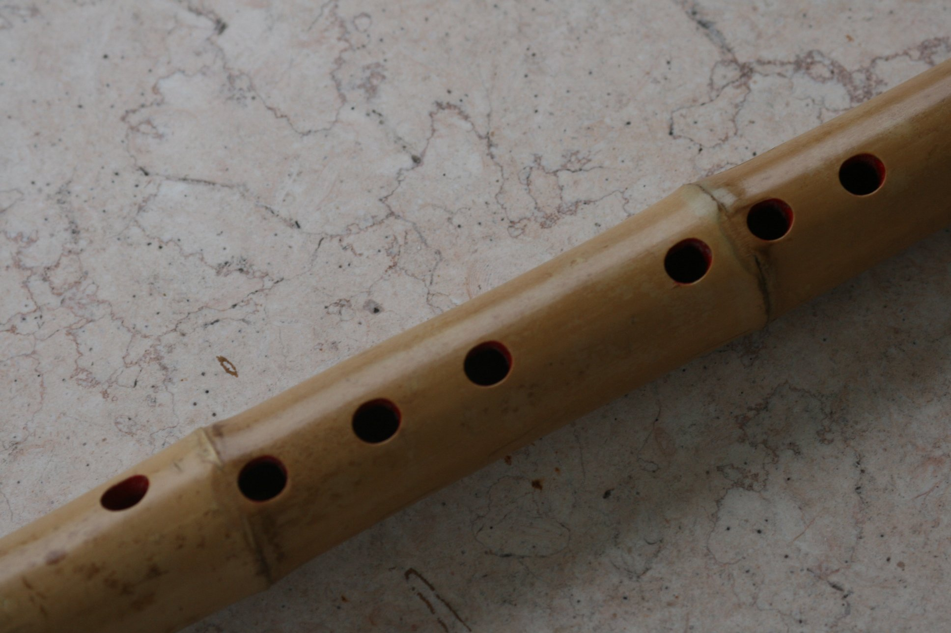 8 Hole U-shape Voicing Mouthpiece Dongxiao Bamboo Flute w. Root End. G Key Zen Instrument