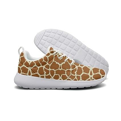 fc2cafe41539e Amazon.com: ERSER Brown Giraffe Skin Womens Brooks Running Shoes ...