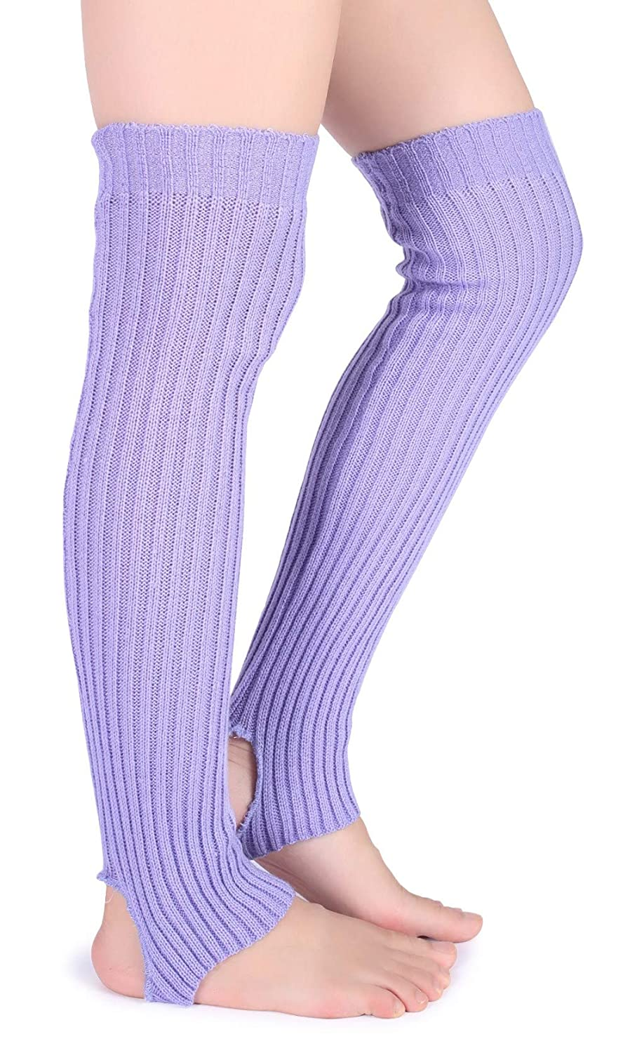 Eleray Women's Winter Soft Over Knee High Cable Footless Socks Knit Leg Warmers
