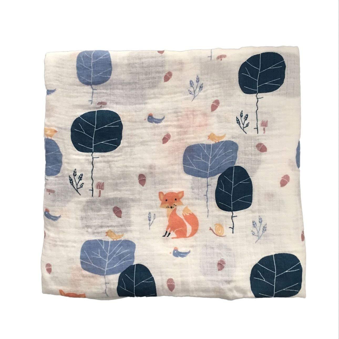 Ballylelly 120x120cm Mousseline Couverture b/éb/é Langes Coton 100/% Nouveau-n/é b/éb/é Serviette de Bain Swaddle couvertures Multi Designs Fonctions