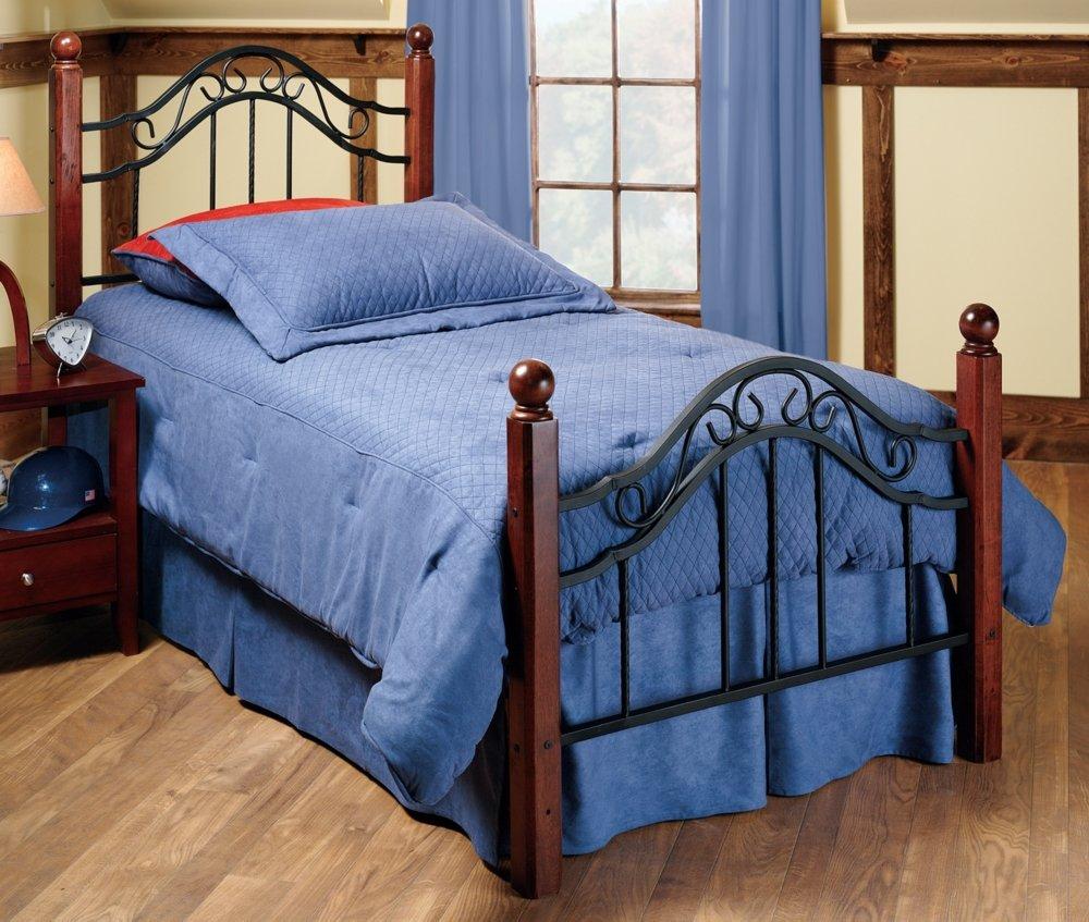 Amazon.com: Hillsdale Furniture 1010BKR Madison Bed Set with Rails ...