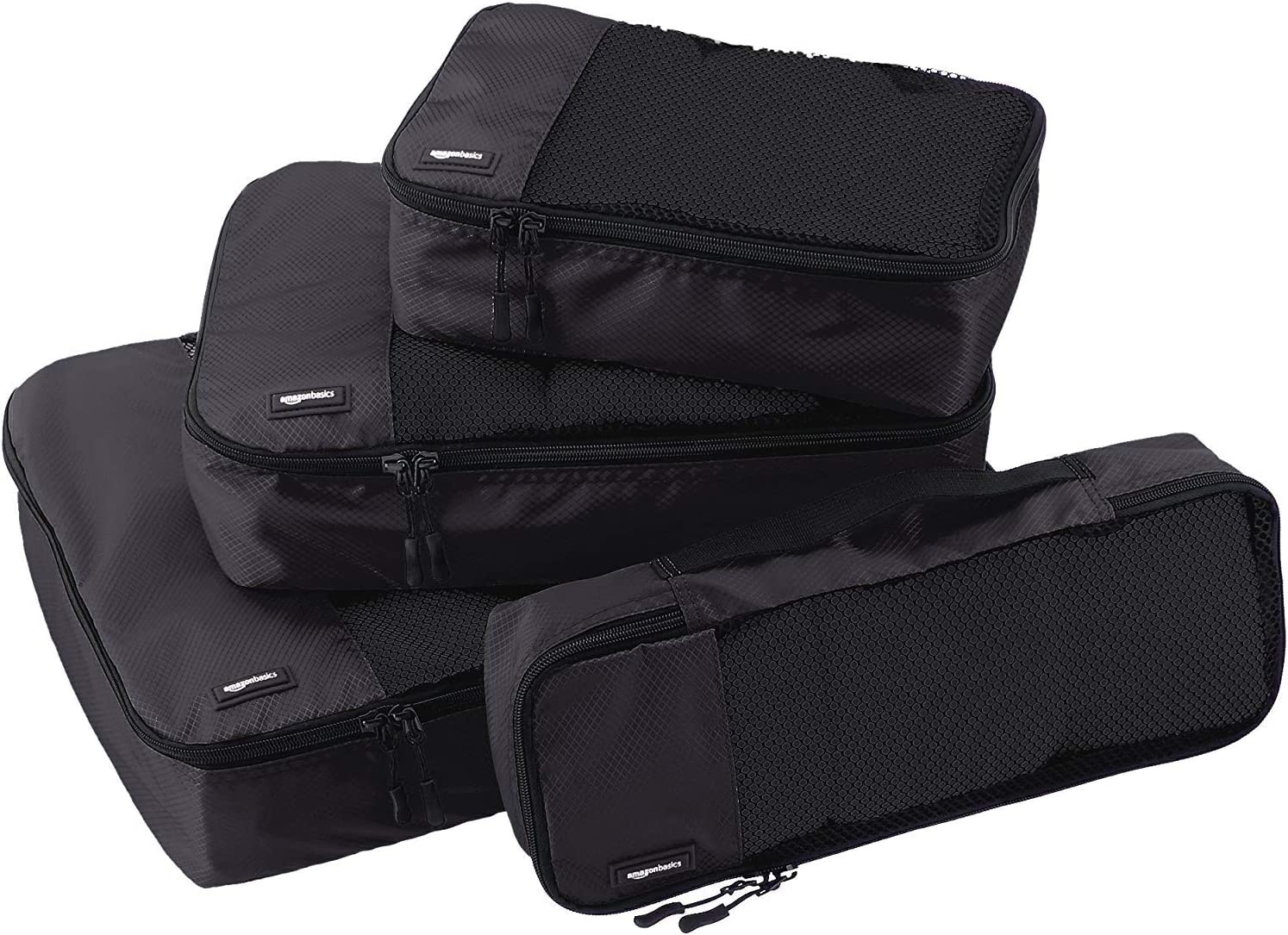 AmazonBasics 4 Piece Packing Travel Organizer Cubes Set