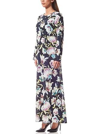 RICK CARDONA by Heine Maxikleid Druckkleid Kleid Sommerkleid Blau Damen   Amazon.de  Bekleidung ee5bcb4a06