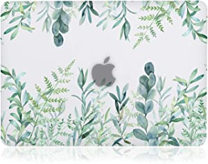 iDonzon Case for MacBook Pro 15 inch (A1398, 2012-2015 Release), 3D Effect Matte Clear See Through Hard Cover Compatible Mac Pro 15.4 inch with Retina Display (NO CD-ROM Drive) - Green Plants