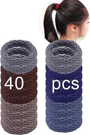 JMITHA 100 gomas de pelo de algodón de alta calidad el uso diario Goma Elástico para el pelo Pelo Gomas sin Metal Suave para mujeres y niñas (TS02): Amazon.es: Belleza