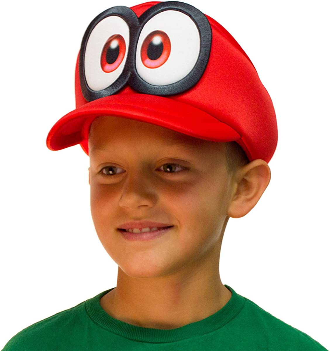 Bioworld Super Mario Odyssey Cappy Hat Kids Cosplay Accessory Red: Clothing