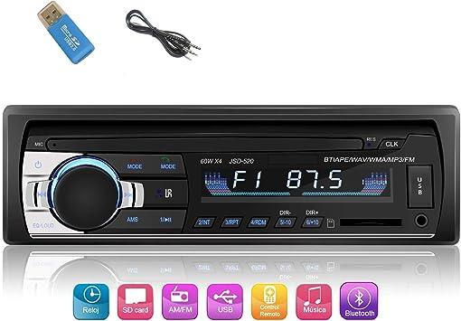 iWalker Autoradio de Coche, 60W×4 Manos Libres Radio Estéreo de Coche, Apoyo de Reproductor MP3, Llamadas Manos Libres, Función de Radio y de Archivo.: Amazon.es: Electrónica