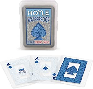 Hoyle Waterproof Clear Playing Cards (2- Pack)