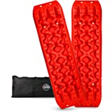 ZESUPER Recovery Traction Tracks for Off-Road Mud, Sand, Snow Tire Ladder Traction Track Vehicle Extraction Traction Mats (Pa