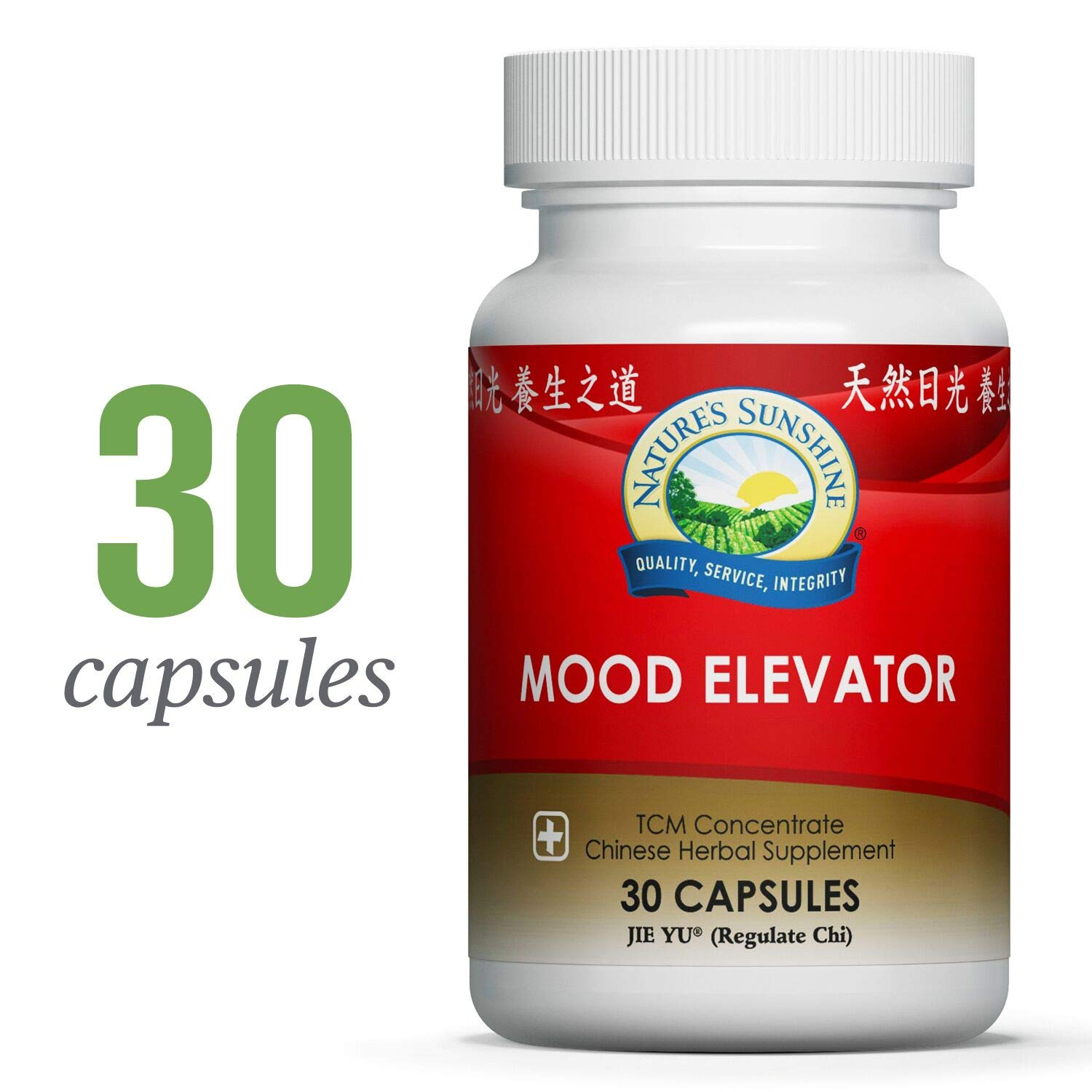 Nature s Sunshine Mood Elevator, Chinese TCM Concentrate, 30 Capsules Concentrated Blend of Chinese Herbs That Strengthen Liver Function, Support Mood, and Improve Overall Sense of Well-Being