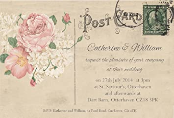 Wedding Invitations Pack of 70 Personalised Wedding Invites