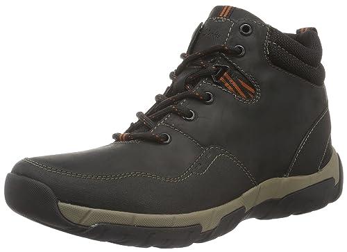 Clarks Men's Walbeck Top Ankle Boots, Black (Black Weatherproof Leather), 7  UK