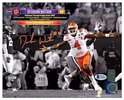7488ce5ba Image Unavailable. Image not available for. Color  Deshaun Watson  Autographed Signed 8x10 Photo Clemson Tigers ...