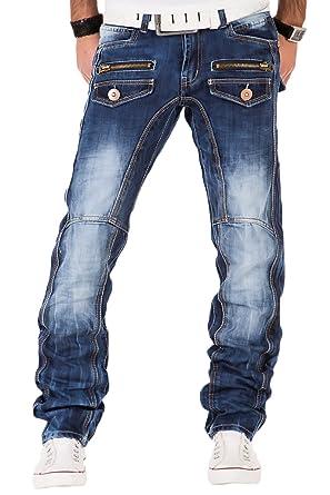 726f73589479 Kosmo Lupo Herren Jeans Denim Hose Japan Style Vintage Clubwear Chino Used  Blau (W29