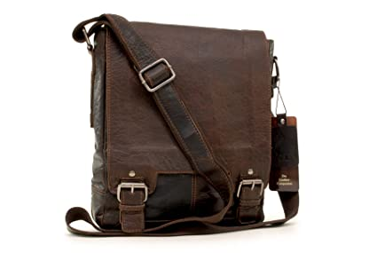 Ashwood vera pelle borsa a tracolla a4 borse businessmessenger a tracolla per lavoroborsello uomo per pc laptop portatiletablet 8342