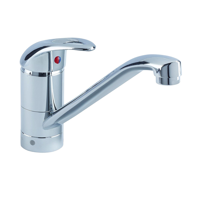 Chrome Bristan J SFSNK EF C Java Single Flow Easyfit Kitchen Sink Mixer Tap with Swivel Spout, Chrome