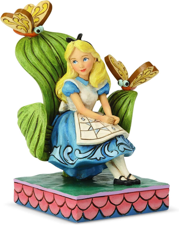 Enesco Disney Traditions by Jim Shore Alice in Wonderland Figurine, 5.43 Inch, Multicolor