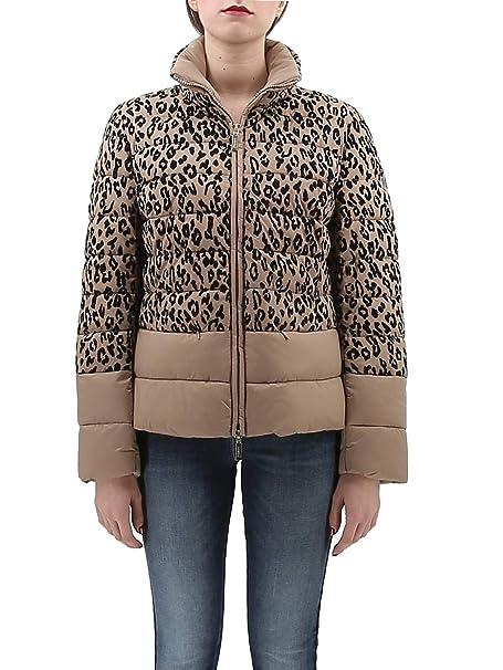 new styles 8c2d3 6384e Luckylu Piumino MACULATO Beige - 44: Amazon.it: Abbigliamento