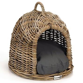 Beeztees Cama Modelo Iglú para Gatos Lofti Material Caña 50x42x40 cm 710280: Amazon.es: Productos para mascotas