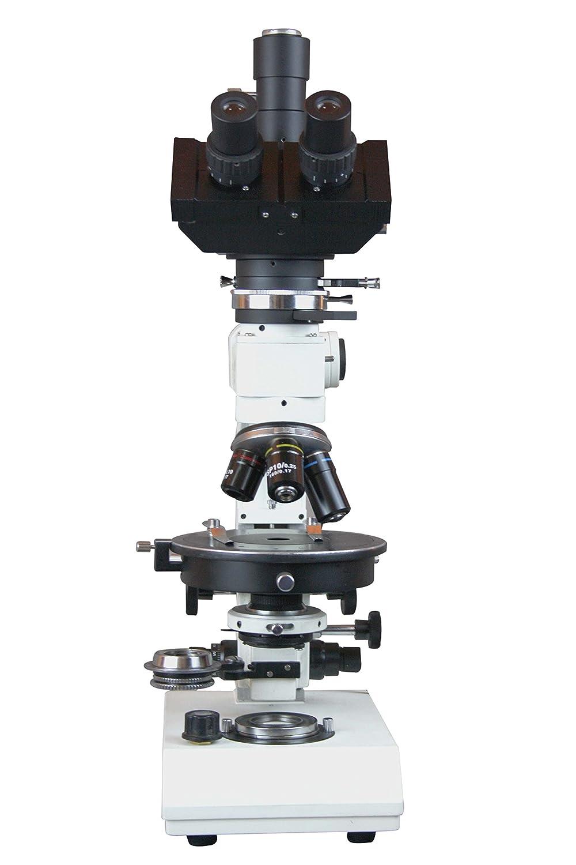 Radical Trinocular Polarizing Ore Geology Microscope w Reflected Light Gypsum Mica Plates Bertrand Lens /& Camera Port
