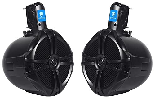 Rockville RWB80B Black 2-Way 300w Off-Road For ATV/UTV/Quad Tower Speakers
