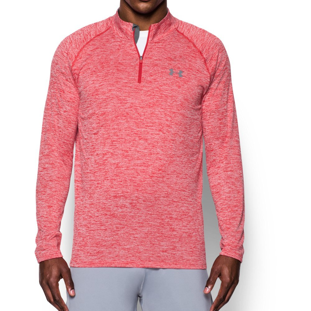 Under Armour Men's UA Tech 1/4 Zip, Red (600)/Graphite, Small