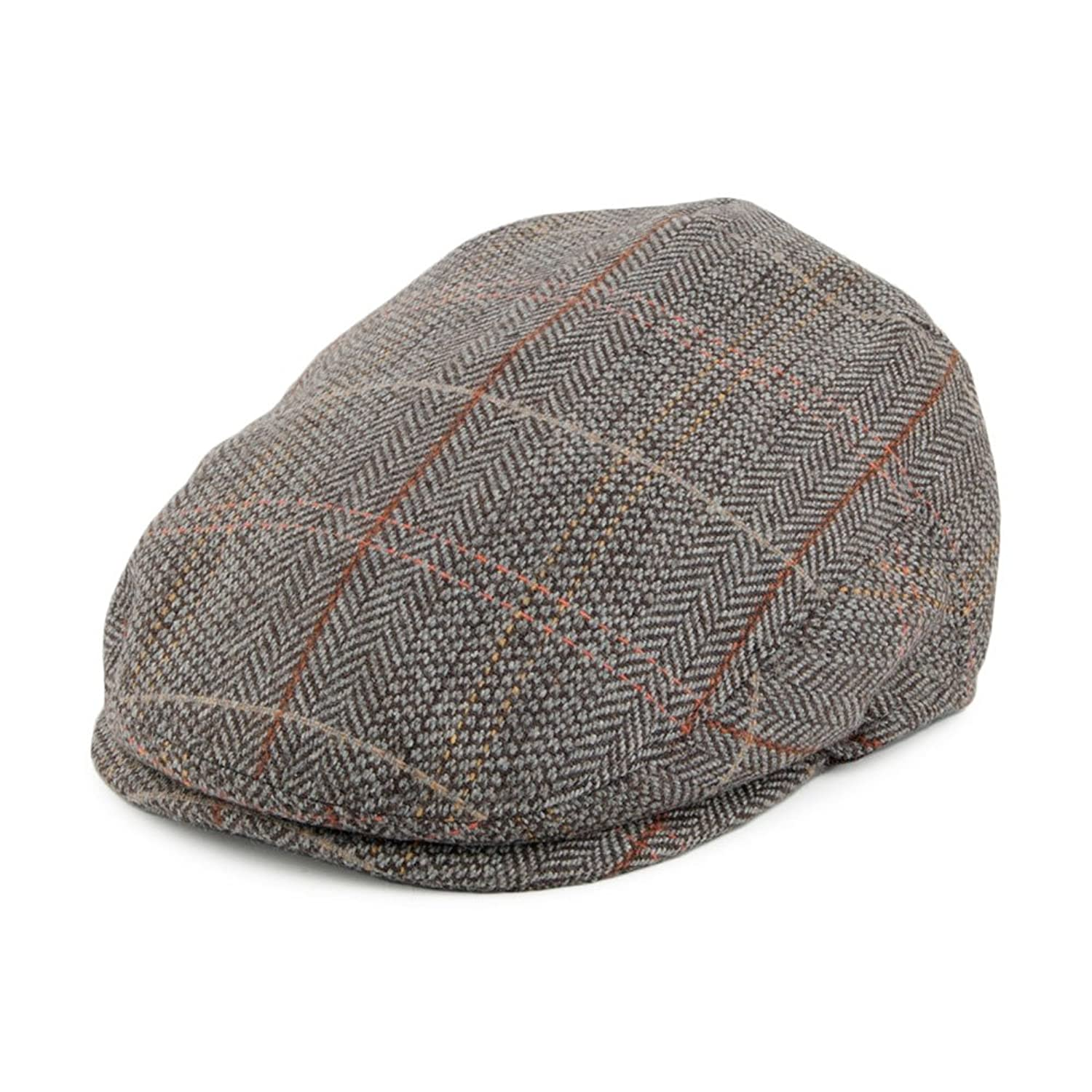 5f0c6848b83 Jaxon   James Baby Tweed Flat Cap - Brown-Grey