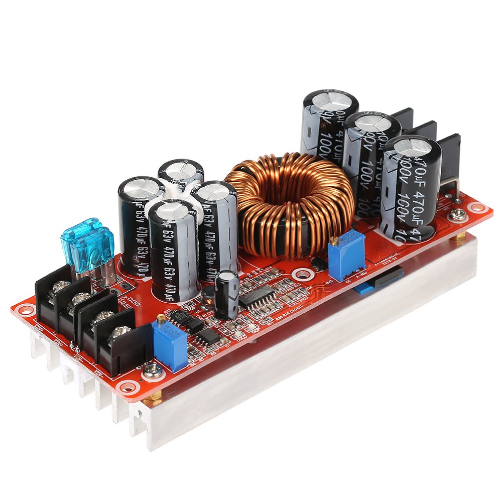 KKmoon 1200W High Power DC-DC Converter Boost Step-up Power Supply Module 20A IN 8-60V OUT 12-80V Adjustable