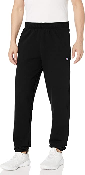 Champion Mens Fleece Sweatpants Powerblend Sweats Relaxed Bottom Pockets Elastic