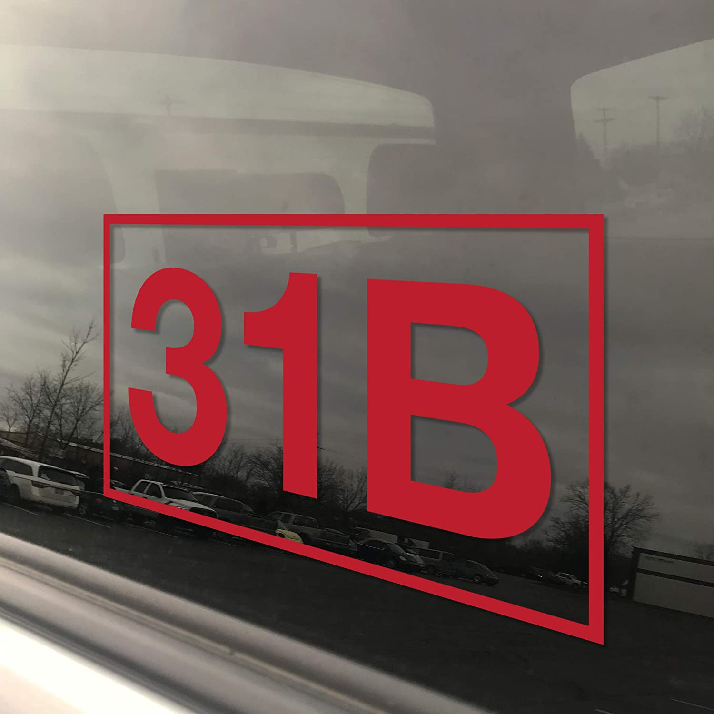 31B MILITARY POLICE MOS U.S 2X ARMY Vinyl Decal Sticker 31B