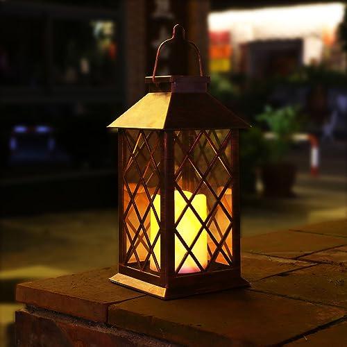 Outdoor Solar Lanterns Hanging: Outdoor Solar Lantern: Amazon.com