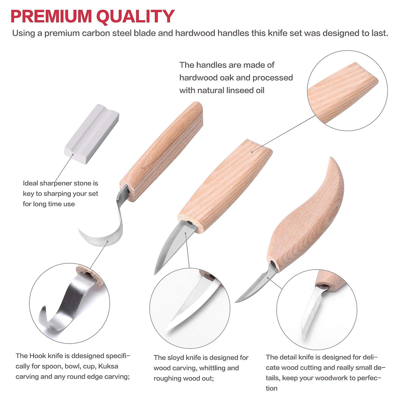 Amazon.com: Herramientas para cuchillos de tallado de madera ...