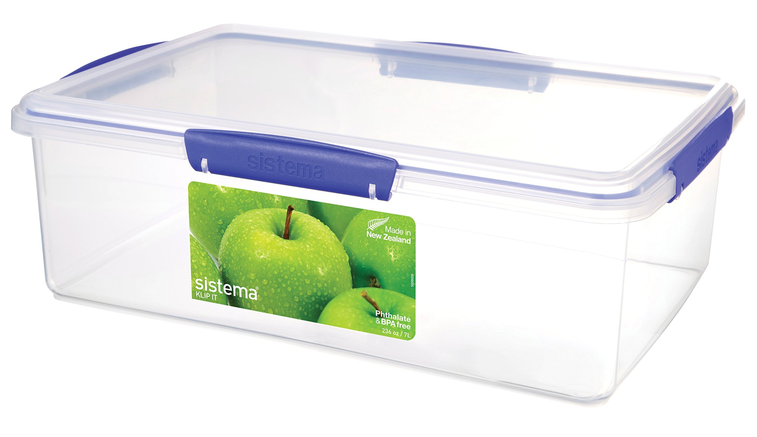 Sistema 1870 Klip It Collection Rectangle Food Storage Container, 232 Ounce by Sistema