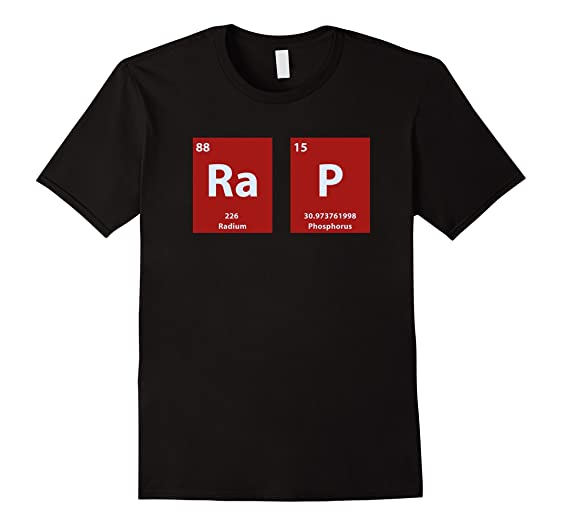 mens rap periodic table of elements nerd rap t shirt 3xl black - Periodic Table Rap