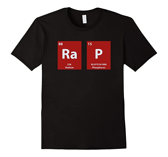 Amazon rap periodic table of elements nerd rap t shirt clothing mens rap periodic table of elements nerd rap t shirt 3xl black urtaz Gallery