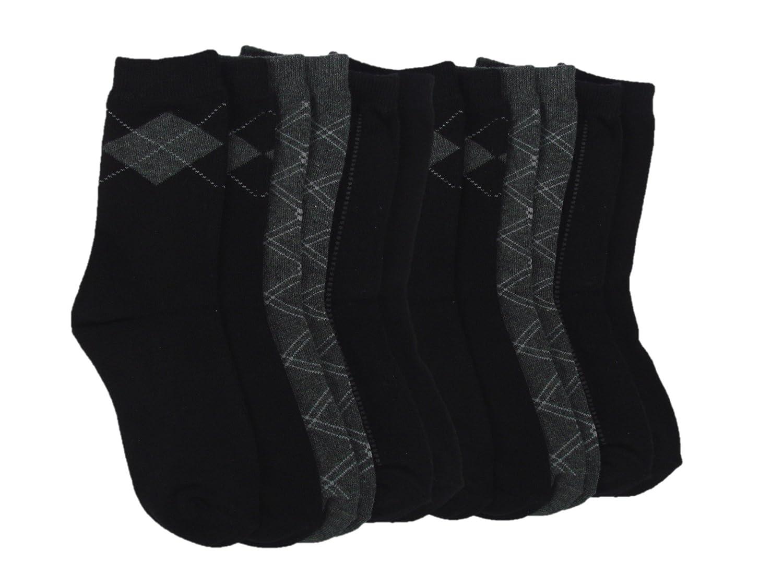Trimfit Boys 6 PR Dress Pattern Crew Socks 20114