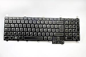 Dell New Genuine OEM Alienware M17x R1 R2 Laptop Notebook NSK-D8C1E Black 102 Key Spanish Espanol Latin Keypad TECLADO Typing Keypad Keyboard Assembly VX9TM nsk-d8c1e