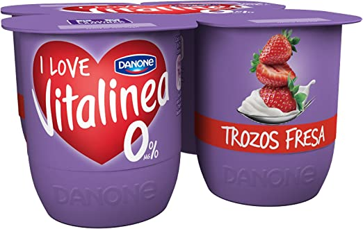 Vitalinea - Danone Con Fresas Pack 4 x 125 g: Amazon.es ...