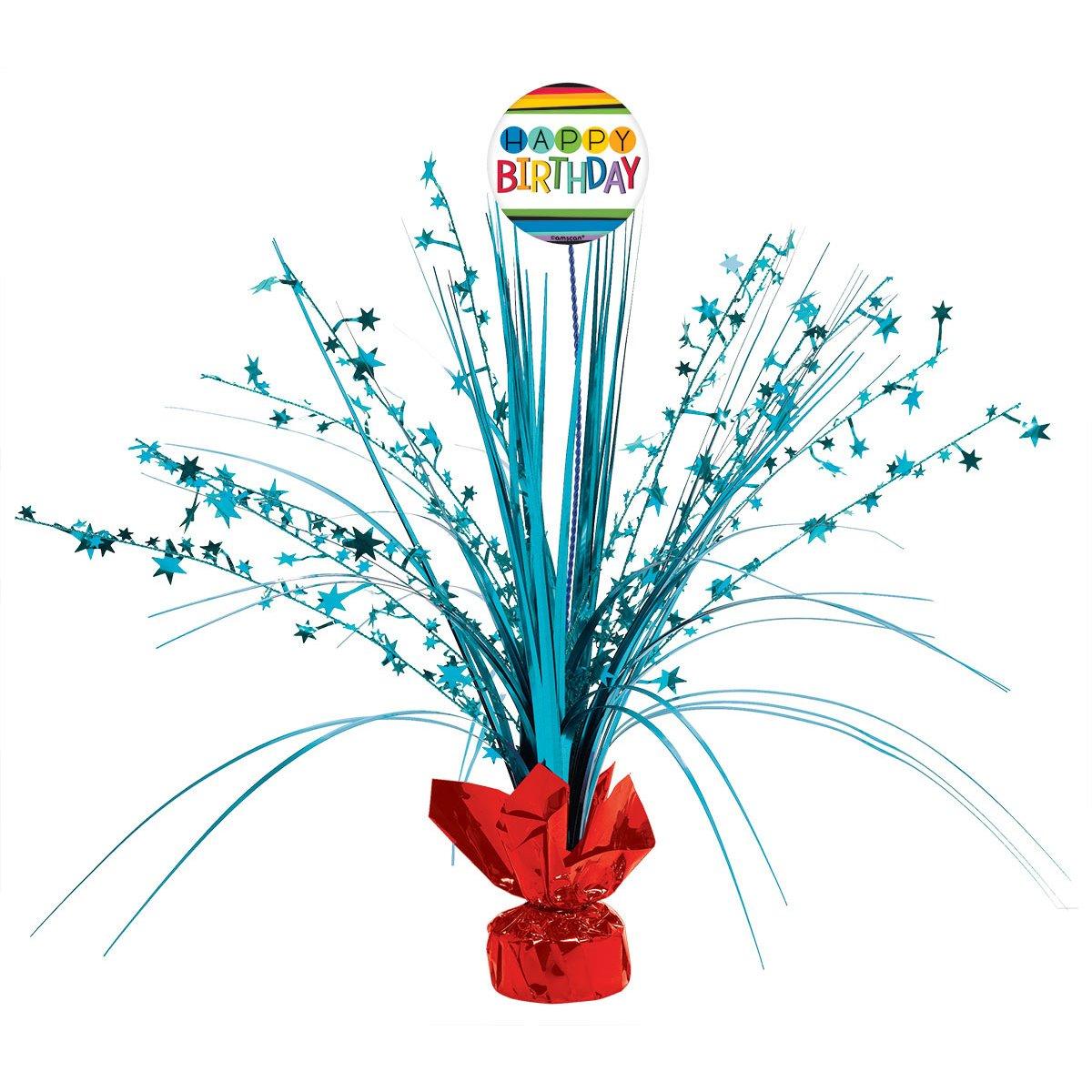 Rainbow Birthday Add-Any-Age Spray Centerpiece Amscan 111836