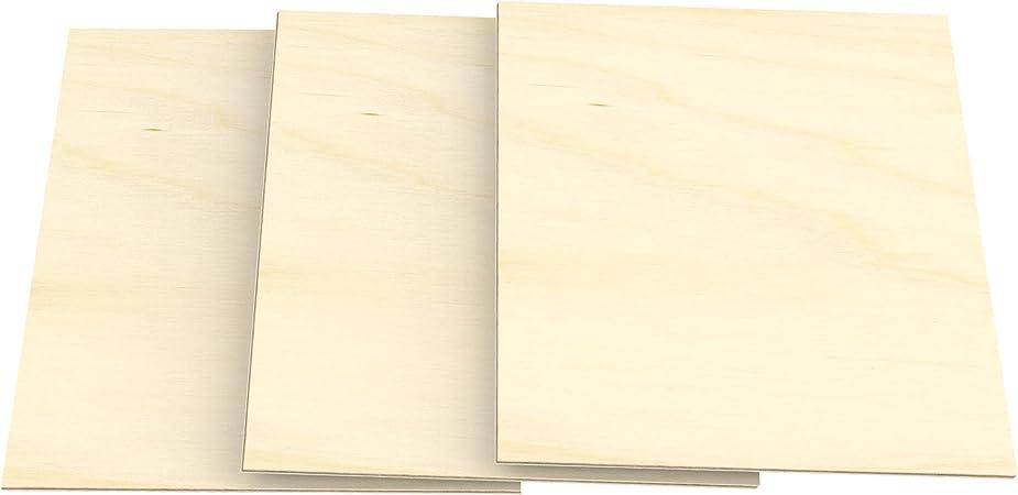 Panneau du Bois Massif pour Bricolage Chantournement Mod/élisme D/écoration Panneaux Multiplex de qualit/é haut BB//BB 210 mm x 297 mm AUPROTEC 10x A4 Feuille de Contreplaqu/é 8mm Bouleau