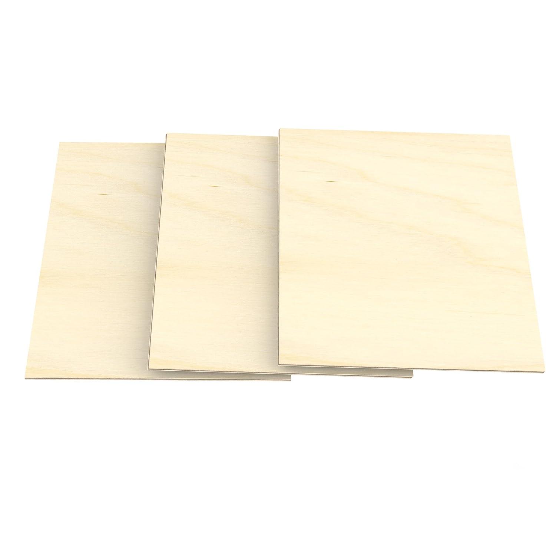AUPROTEC 10x A5 Placas de madera 3mm Contrachapado de Abedul (148 mm x 210 mm) para manualidades bricolaje marqueterí a contrachapada superior madera maciza AU-MPX03-A5
