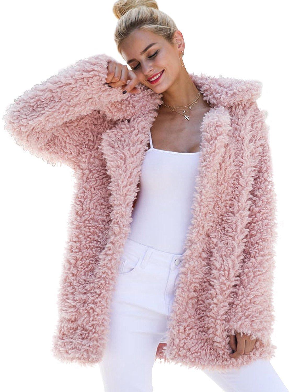 eb4daed74 BerryGo Women's Shaggy Long Faux Fur Coat Jacket Outwear