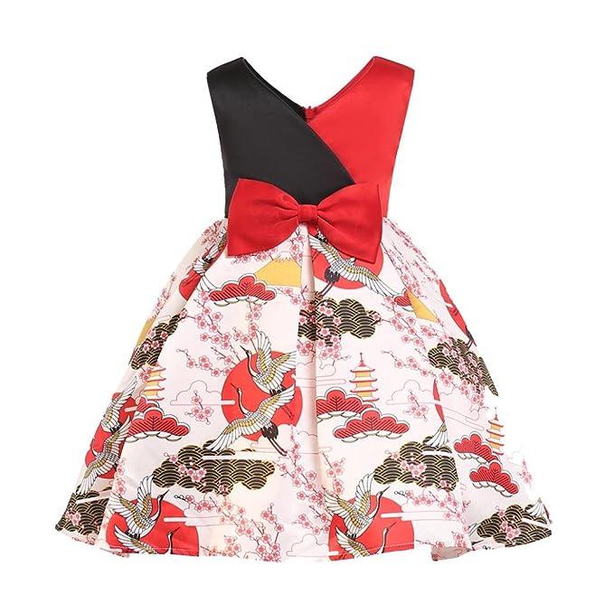 Sannysis Princesa Vestido Bebé Niños Fiesta Boda Desfile Tul Tutú Vestidos Vestido de Niñas Niños Vestido de bebé Rosado Sin Mangas Fiesta Vestido de ...