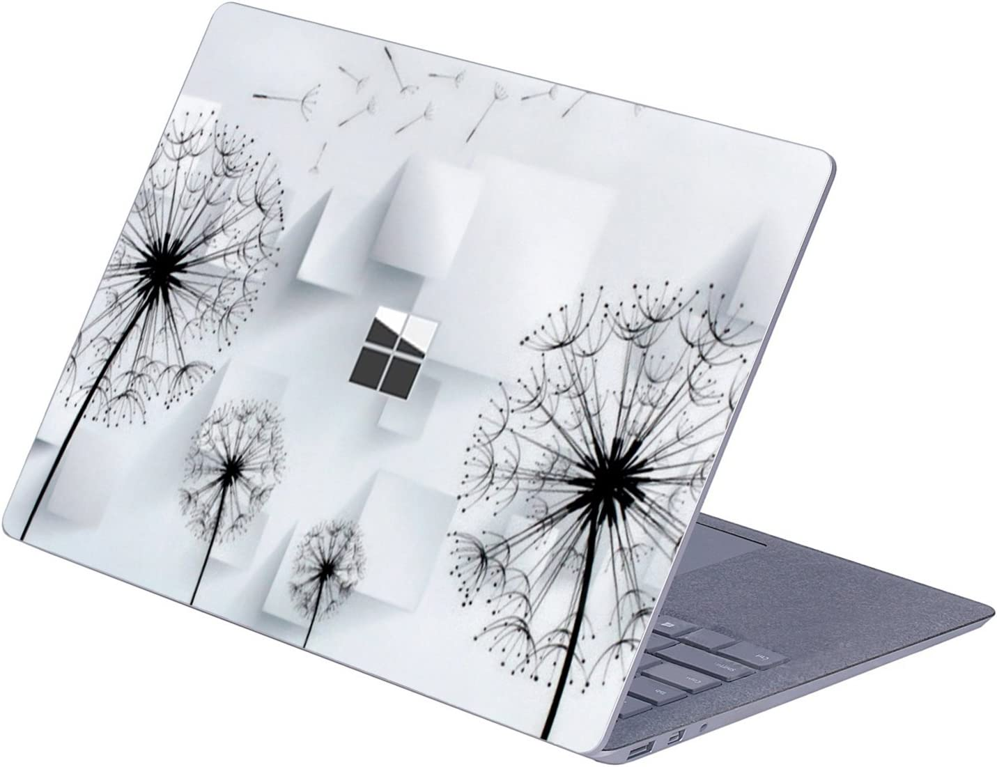 """MasiBloom Top Side Laptop Sticker Decal for 13"""" 13.5 inch Microsoft Surface Laptop 3 & 2 & 1 (2019/18/17 Released), Not Compatible with Surface Book (Dandelion)"""