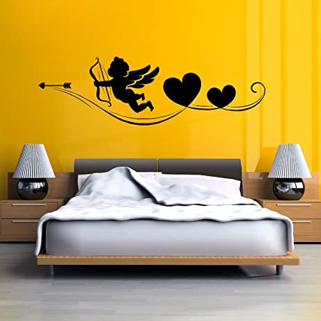 Amazon.com: HUANYI CHERUB BOW AND ARROW CUPID ANGEL HEARTS Vinyl ...