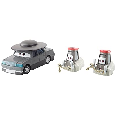Disney Pixar Cars Collector Diecast Father Bruke and Cardinal Pitty 2-Pack: Toys & Games