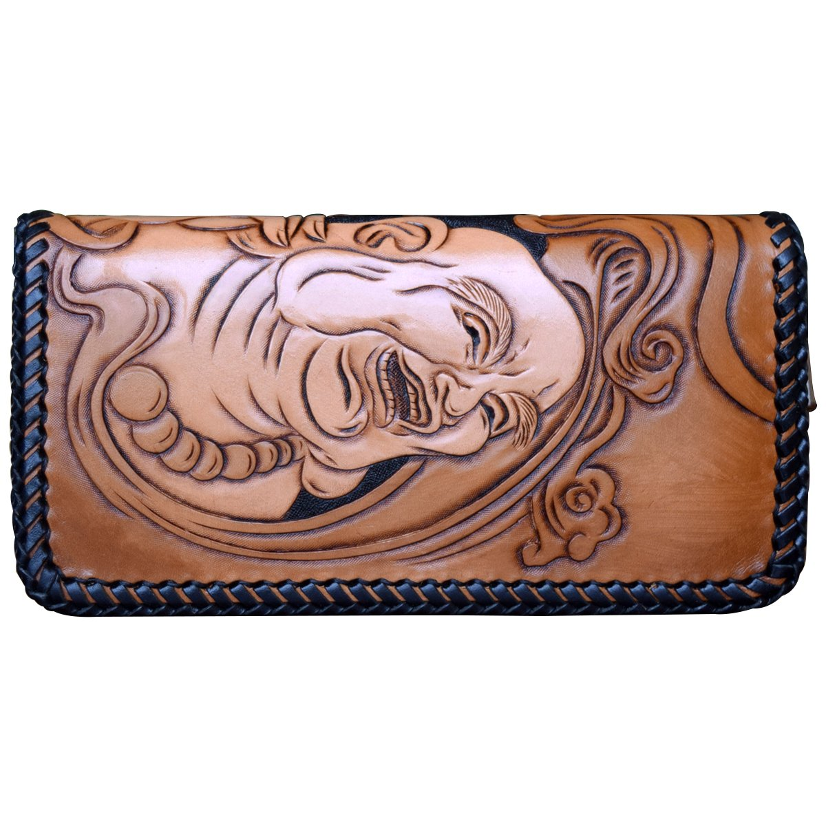 OLG.YAT Vegetable tanned leather Retro Genuine Leather Men's Wallets WL20XKCK by OLG.YAT